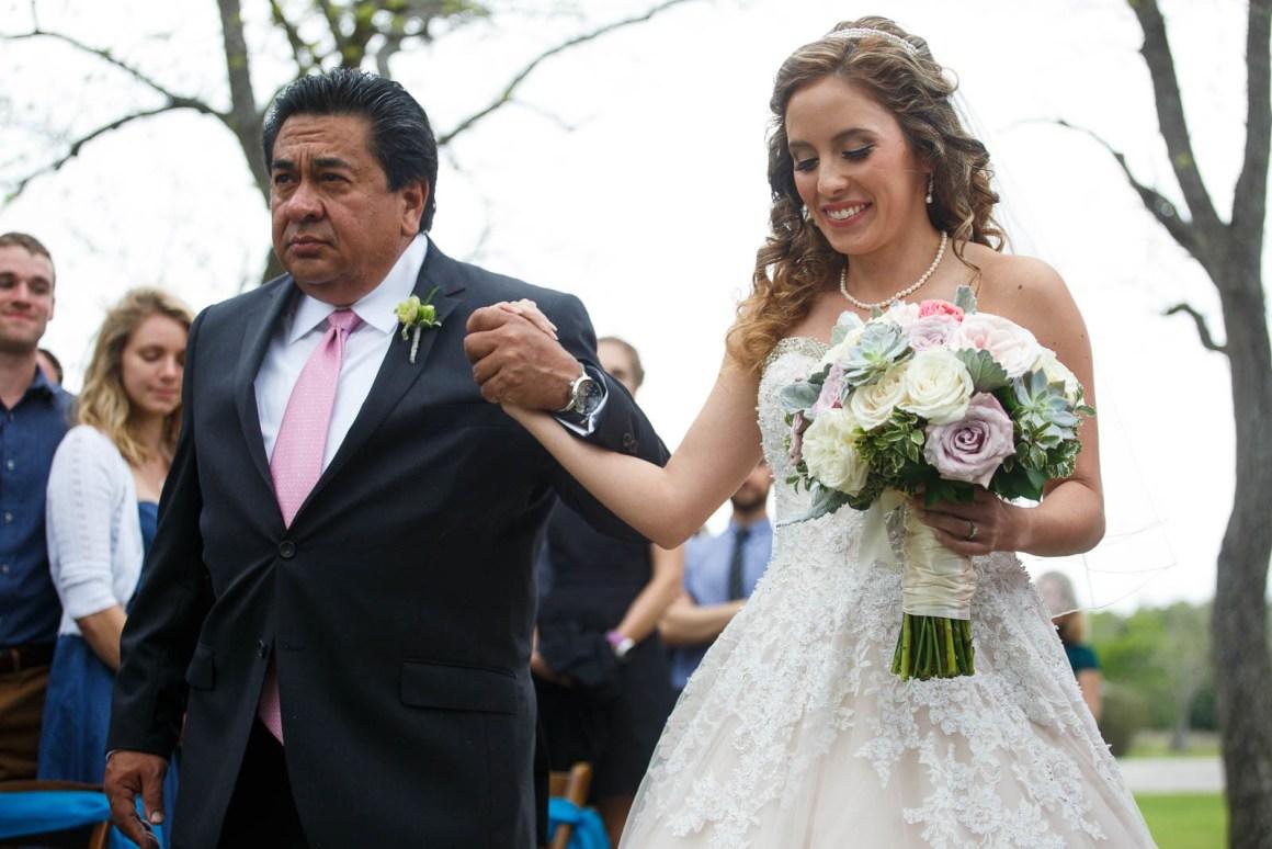 Hill Country Wedding - Pecan Springs Ranch Wedding - Wedding Ceremony- Austin Wedding Photographer - Matt and Allison