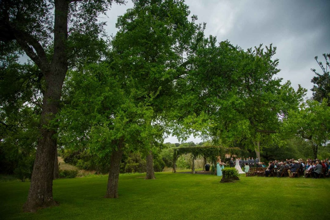 Hill Country Wedding - Pecan Springs Ranch Wedding - Wedding Ceremony- Austin Wedding Photographer - Matt and Allison