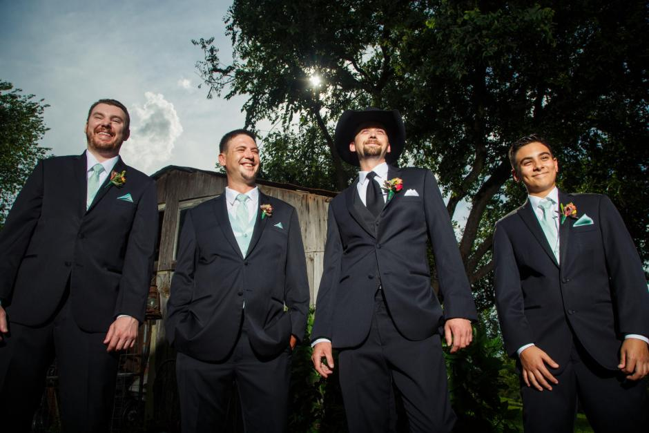 Groom and Groomsmen at TerrAdorna in Manor, Tx