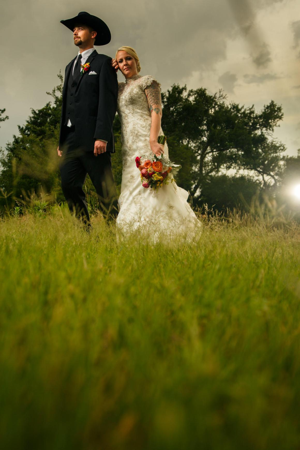 Wes and Cheyenne Wedding Portrait at TerrAdorna in Manor, Tx