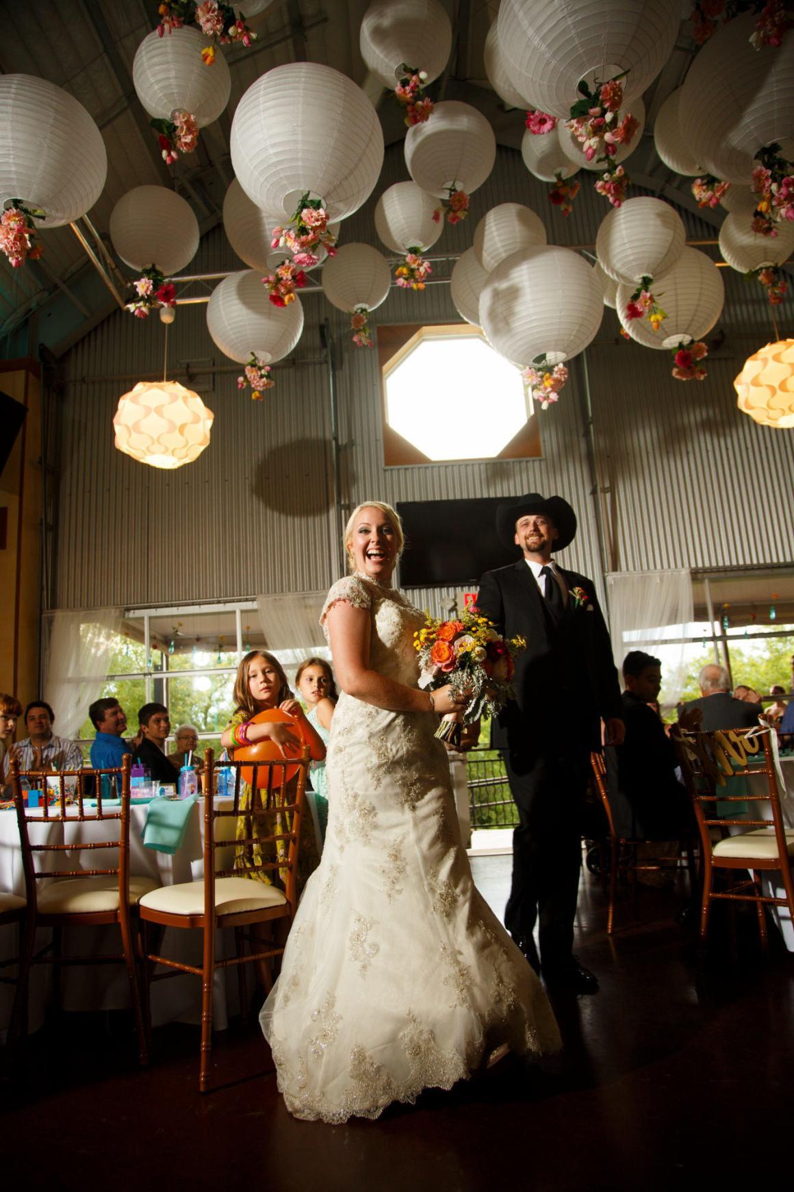 Couple's entry to TerrAdorna Wedding Reception