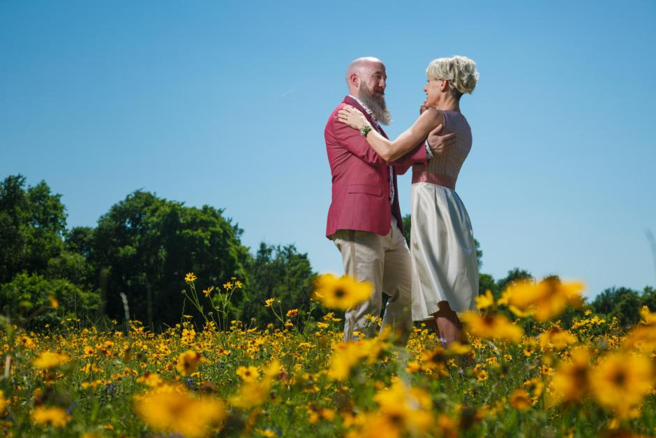 Mike and Kathie Day Before Wildflower Shoot at McKinney Falls State Park in Austin