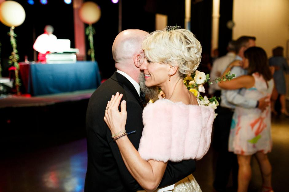 Mike and Kathie's first dance at their Palm Door on Sixth Wedding