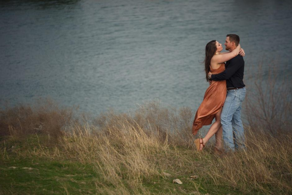 Hunter and Haley doing and outdoor sportsman engagement near Little River.