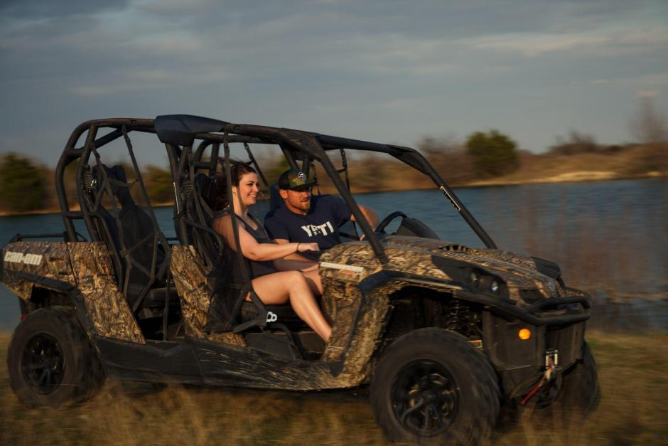 Hunter and Haley Little River Country Texas Engagement Fishing in the Pond - Outdoor Sportsman Engagement