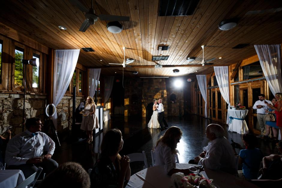 Bride dances with her father at her The River Venue wedding reception in New Braunfels TX.