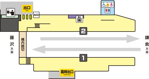 長谷駅改札口