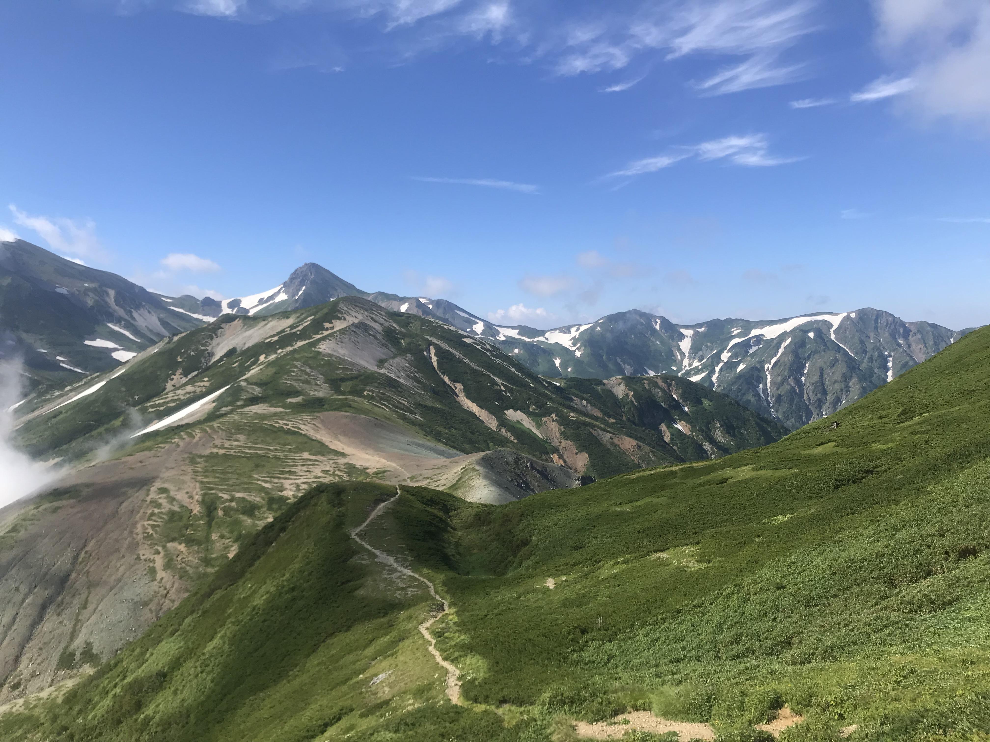 『白馬岳〜雪倉岳〜朝日岳』 – 安曇野・登山基地