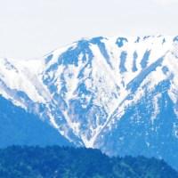 安曇野,北アルプス,残雪,常念岳,蝶ヶ岳,山