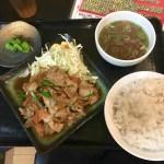 【長野上田市】ラーメン屋「麺将武士(もののふ)」は定食もおいしい♪【焼肉信玄炒め定食】