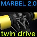 【電動スケボー】パワーアップ!MARBEL 2.0 twin drive!【高性能】