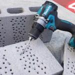 【40V】マキタの振動ドライバドリルで単管に穴あけまくる【HP001G】
