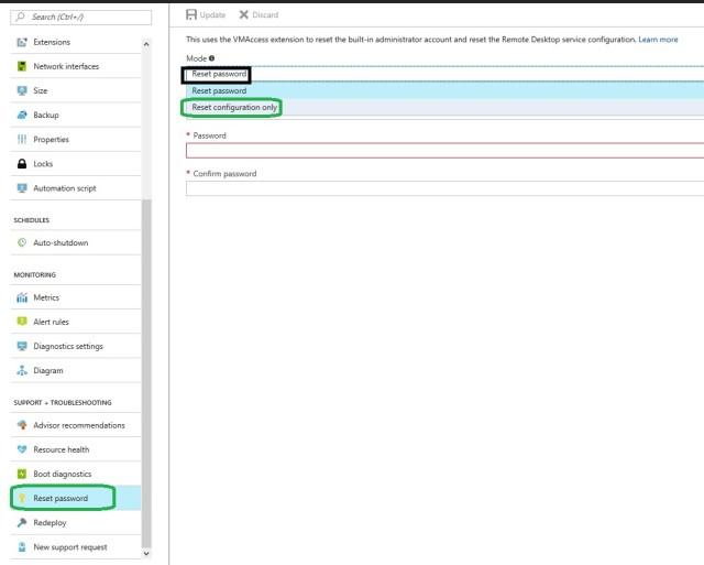 Azure VM Passwrod Reset and Configuration
