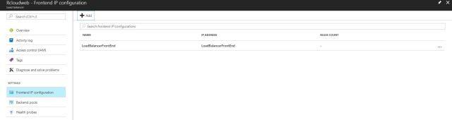 azure load banalcer _frontendip