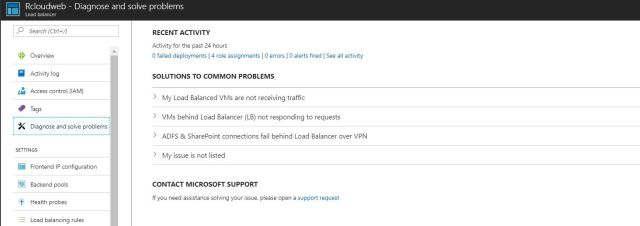 azure load banalcer diagnose and slove problems