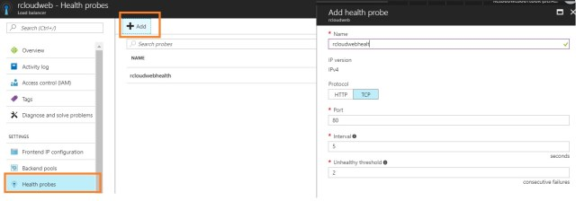 azure load balancer health probe