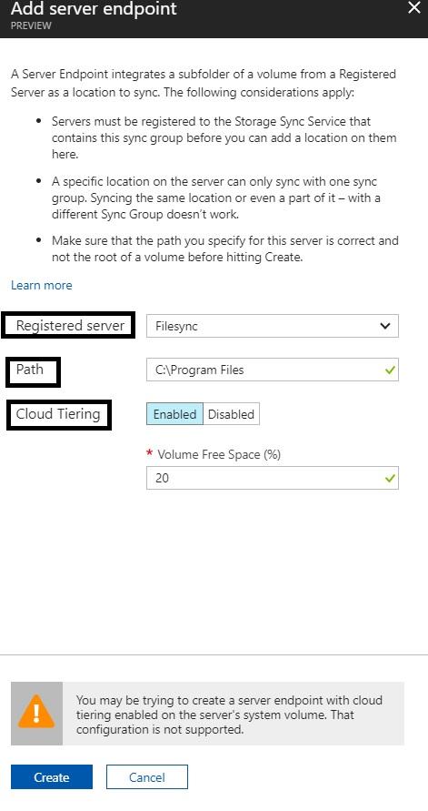 Azure File Sync20