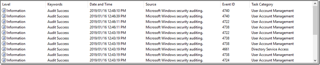 Neat Security Event Log