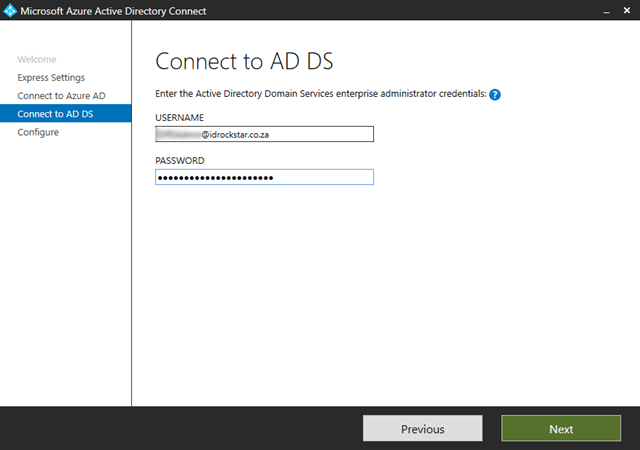 Connect to the Active Directory Forest