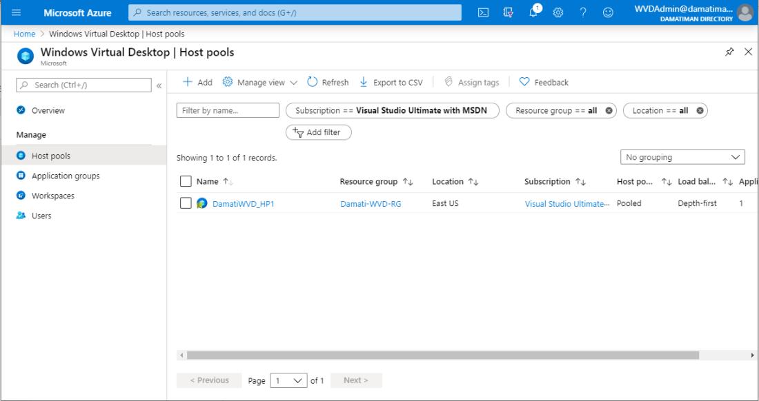 WVD_Admin Portal