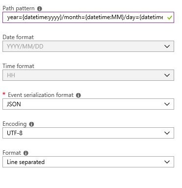 custom date Output partitioning to Azure Blob Storage by custom date and time formatstime