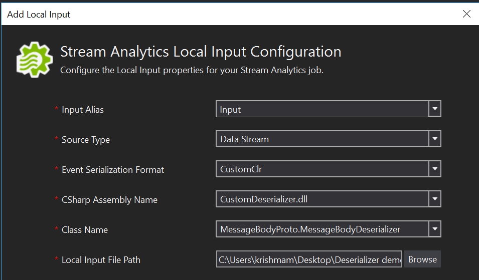 Custom de-serializers in Stream Analytics module on Azure IoT Edge
