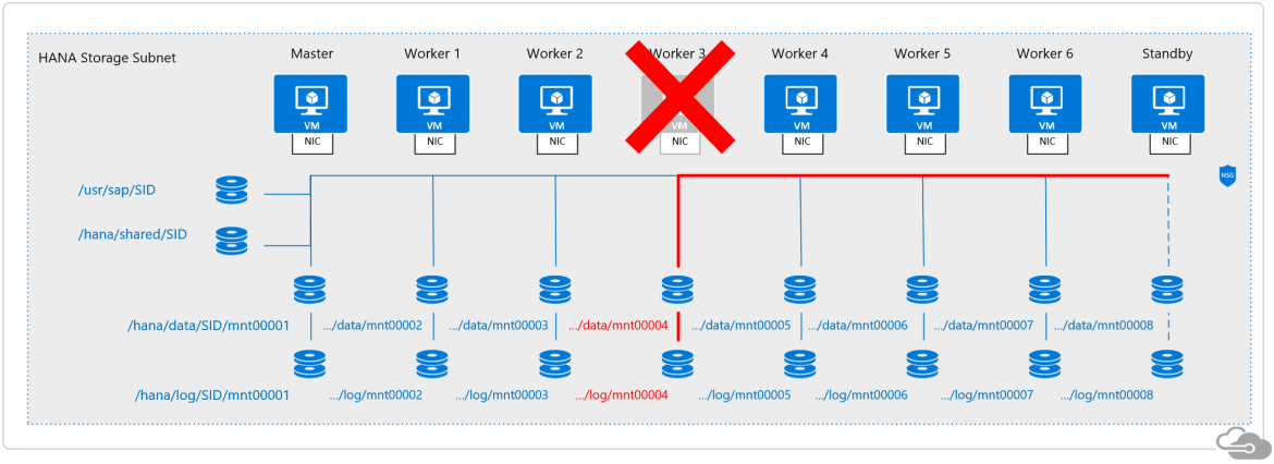 SAP HANA standby bode taking ownership of a failed node's storage