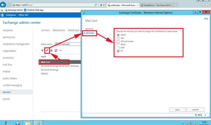 Troubleshooting Exchange certificate Issues with Hybrid