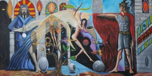 "Art Gallery: Artist: Michael Angelides. ""The Invention of the Angels"""