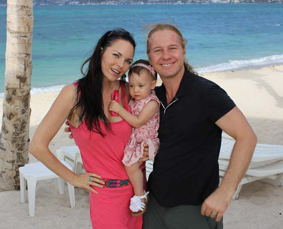 Michael, Fawnette and baby Sky