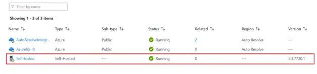 self-hosted integration runtime on azure vm
