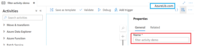 Create Pipeline for Filter activity pipeline.