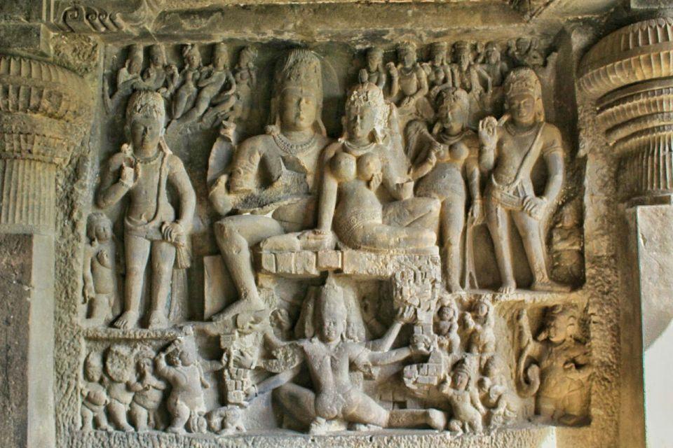 Ellora cave 29- 8 ravana shaking kailasha