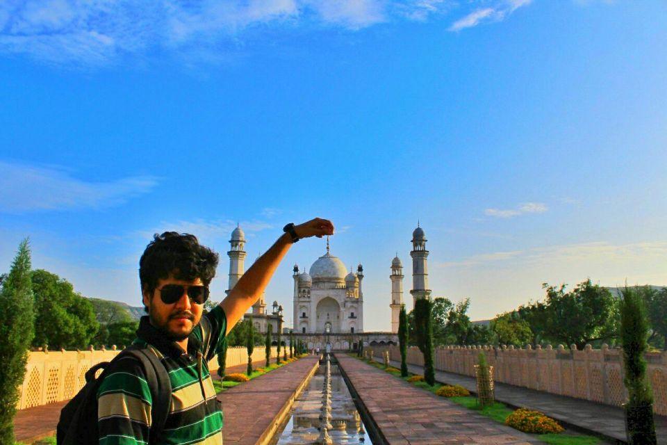 Aurangabad Taj Mahal 12 Bibi ka Maqbara Aurangabad Azure Sky Follows Tania