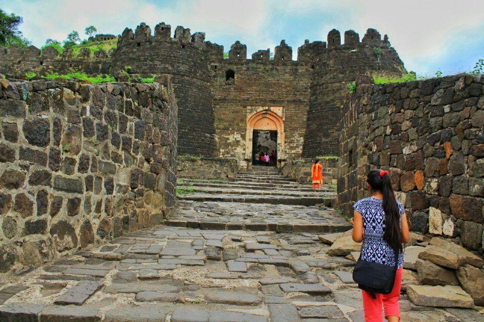 36 daulatabad fort - aurangabad - maharashtra - india - azure sky follows - kalakot gates