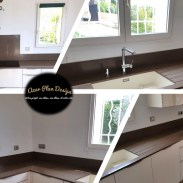Plan de travail quartz silestone Iron Bark