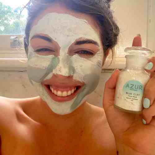 Dry Blue clay Face Mask