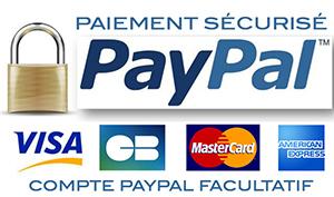 Par Paypal ou Carte Bleue