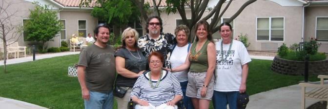 "Some of the original members: Judy Berryman-Gilbertson 1962 ""Butterfly '62"" Las Vegas 2007 with Dave '78 & Roxanne (Olejnik) '80 Hernandez, Tim Meeks '76, Dixie (Odom) Megrew '65, Julie (Krejci) Wilson '79, and Caryn Meeks."