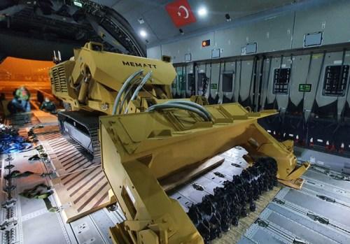 Türkiyədən uzaqdan idarə olunan mina təmizləyən maşın ile ilgili görsel sonucu