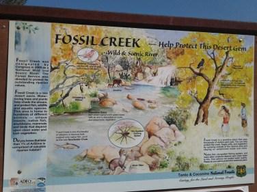 Fossil Creek interpretive sign