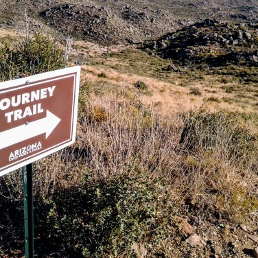 Journey Trail sign leading to Granite Mountain Hotshots Fatality Site
