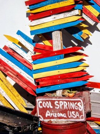 Cool Springs Arizona directional signs