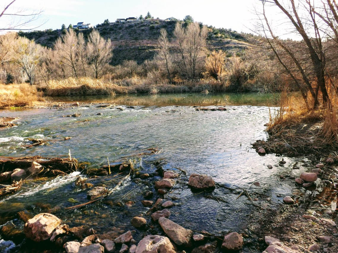 Verde River trickles over rocks