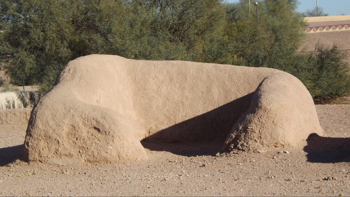 Remnants of mound dwelling at Pueblo Grande Museum