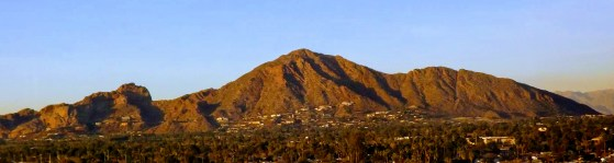 Panoramic view of Camelback Mountain in Phoenix, AZ