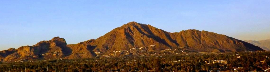 Panoramic view of Camelback Mountain in Phoenix, AZ