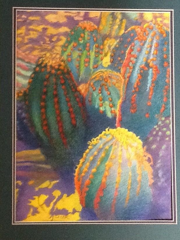 """Colorful Cacti"" Color Pencil"