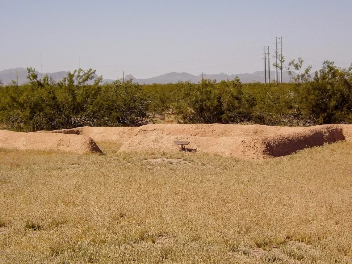 Ruins of a pit house on the grounds of Casa Ground National Monument