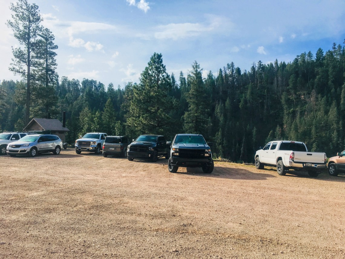 Blue Ridge Reservoir parking area